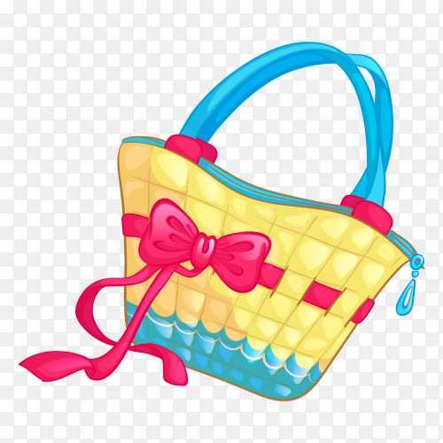 Colorful handbag vector PNG