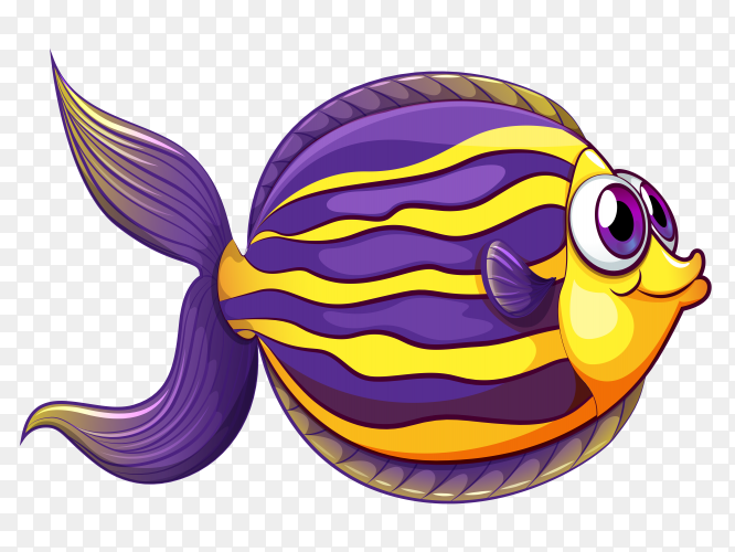Coral reef fish vector PNG