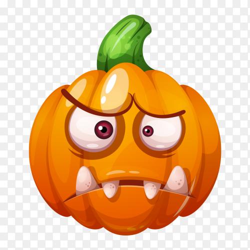 Crazy pumpkin characters halloween vector PNG