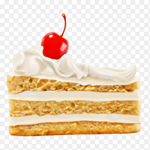 Cream pastry sweet white tasty vector PNG