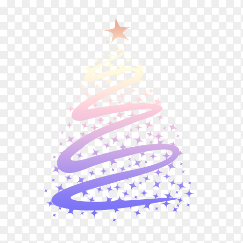 Crooked Christmas tree vector png