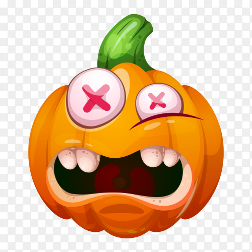 Crrying pumpkin face characters halloween Clipart PNG