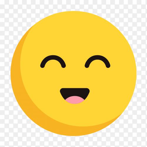 Cute face emoji vector png