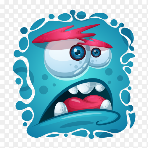 Cute monster character Vector PNG
