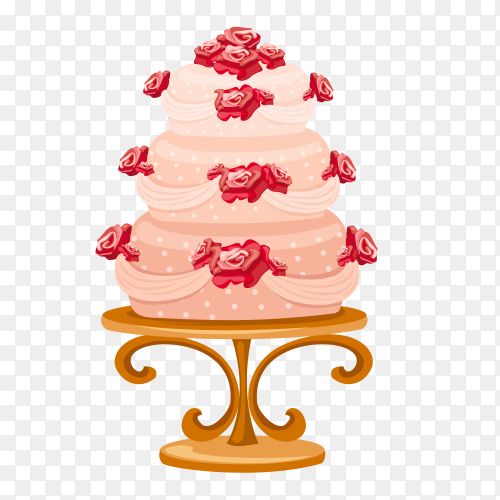 Delicious Pink cake Clipart PNG