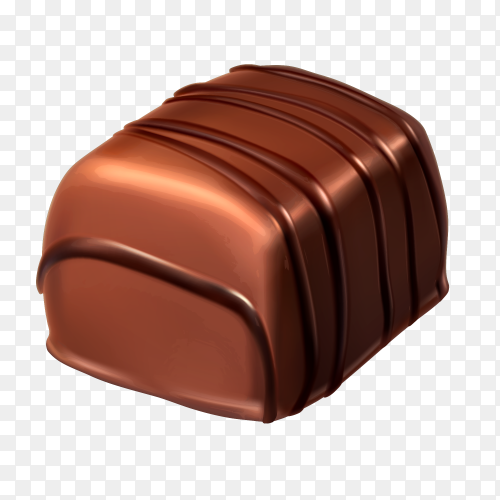 Delicious chocolate on transparent PNG