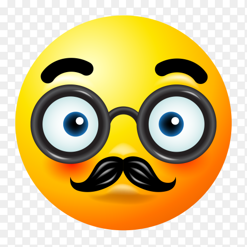 Disguised face emoji vector PNG