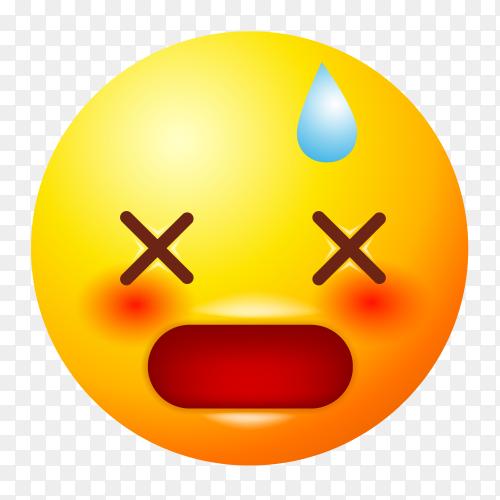 Dizzy face emoji vector PNG