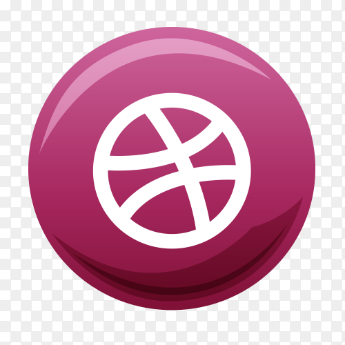Dribbble free icon on transparent PNG