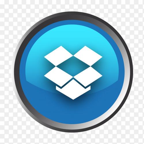 Dropbox logo button vector PNG