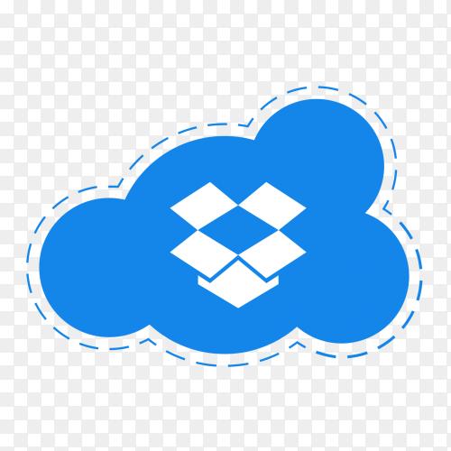 Dropbox logo icon social media cloud vector PNG