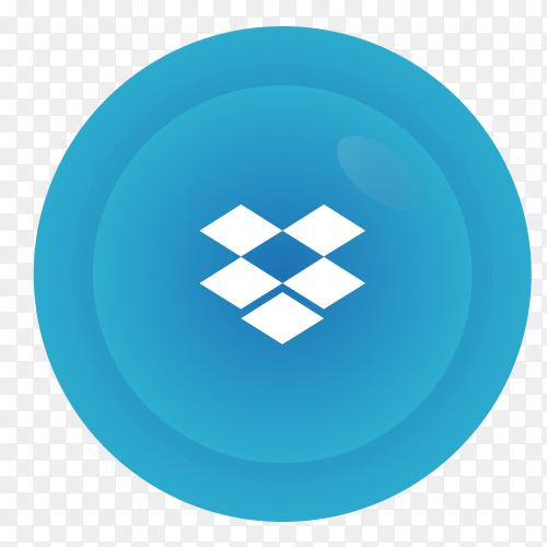 Dropbox logo icon vector PNG