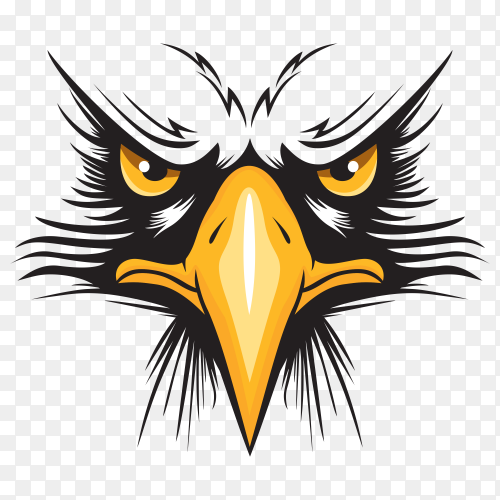 Eagle head logo vector PNG