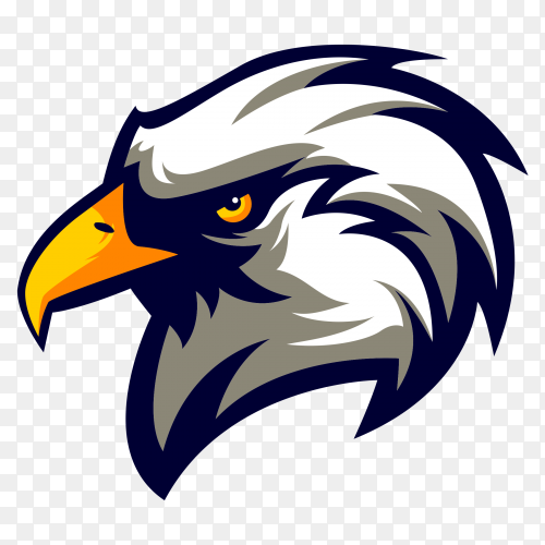 Eagle logo sport style vector PNG