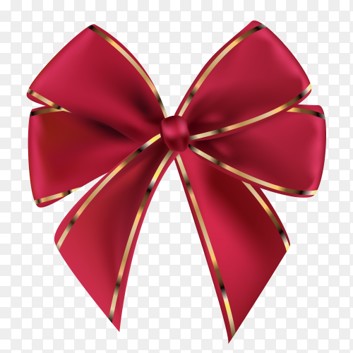Elegant bow and riboon vector PNG
