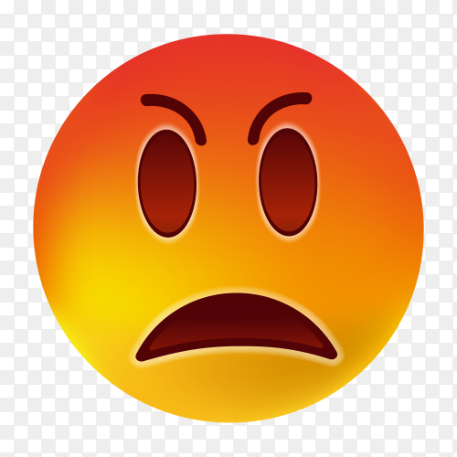 Emoji angry clipart PNG