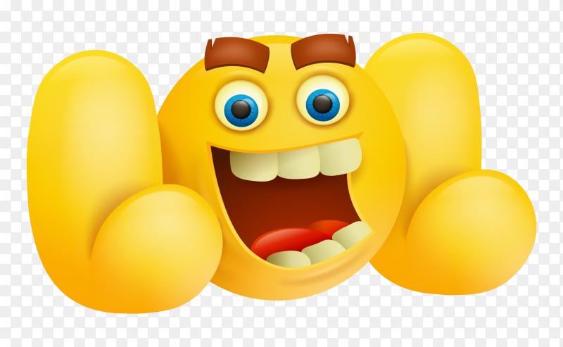 Emoji cartoon on transparent background PNG