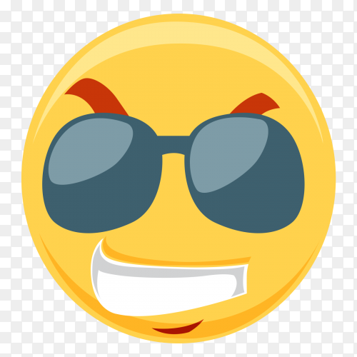 Emoticon Cute Smiley Illustration with sunglasses
