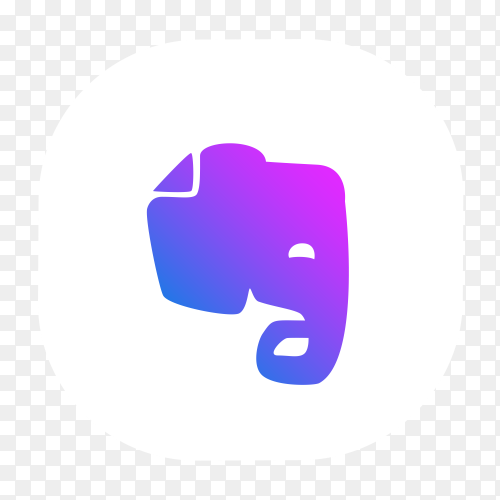 Evernote logo icon on transparent background PNG