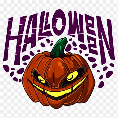 Evil halloween pumpkin illustration Clipart PNG