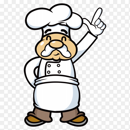 Expert chef with trust smile on transparent PNG