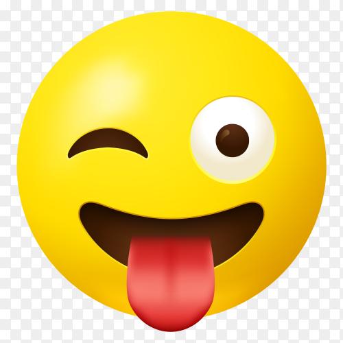 Face emoji tongue clip art PNG
