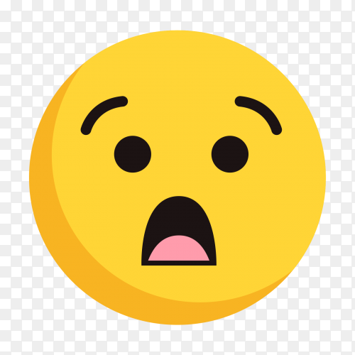 Face with Open Mouth on transparent PNG