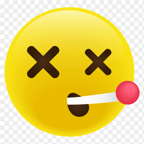 Face with Thermometer emoji vector PNG