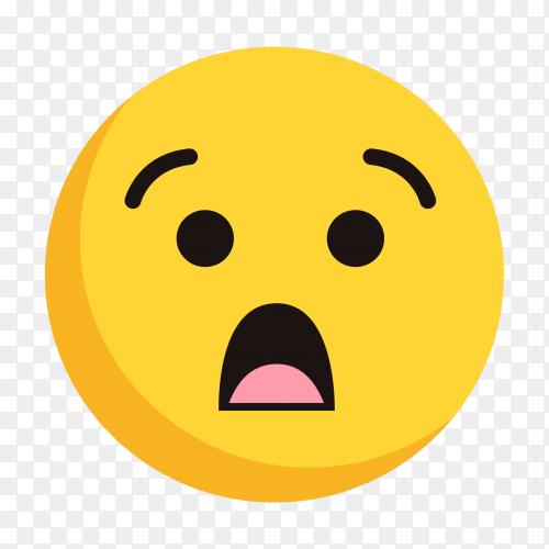 Fearful Emoji vector png