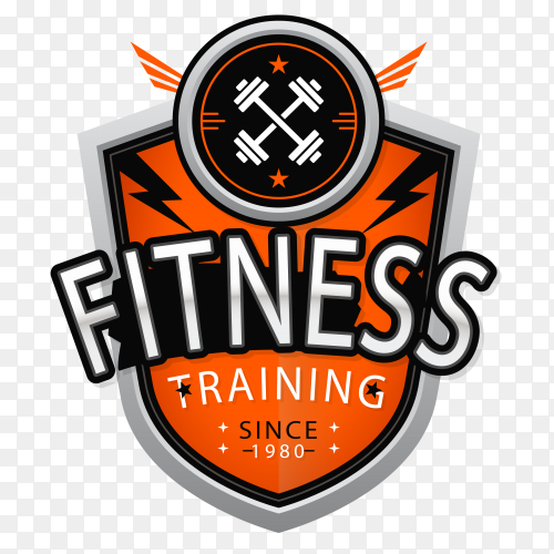 Fitness logo vector PNG