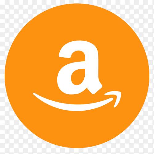 Flat logo Amazon on transparent PNG