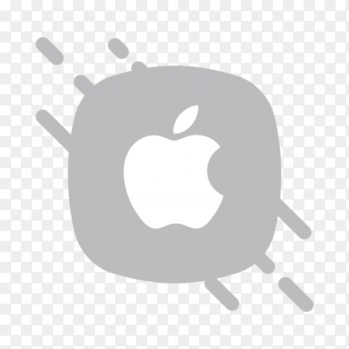 Flat logo Apple iPhone icon on transparent PNG