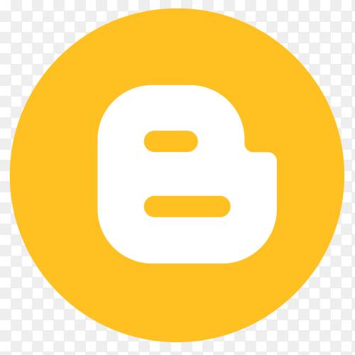 Flat logo Blogger on transparent PNG