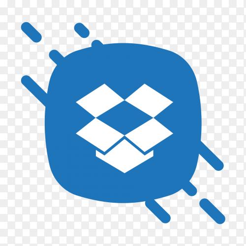 Flat logo Dropbox icon Vector PNG