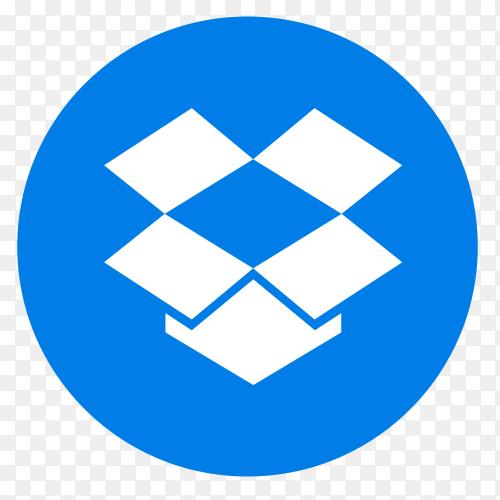 Flat logo Dropbox vector PNG