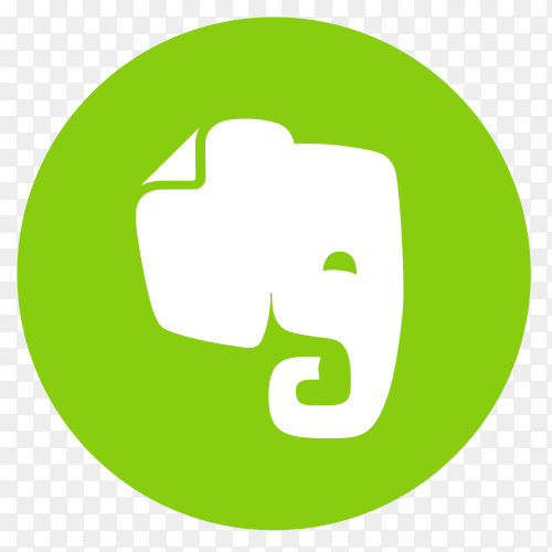 Flat logo Evernote vector PNG