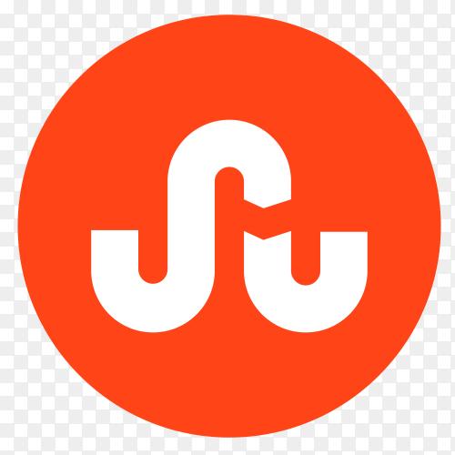 Flat logo StumbleUpon  on transparent PNG
