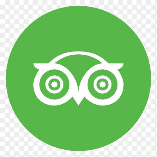 Flat logo TripAdvisor  vector PNG
