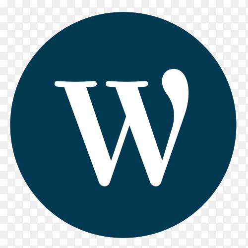 Flat logo WordPress vector PNG