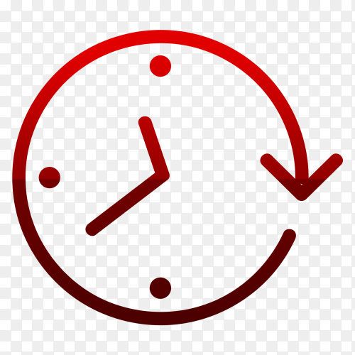Flat time icon clock vector PNG