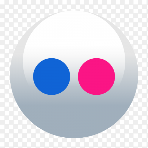 Flickr logo round social media icon vector PNG