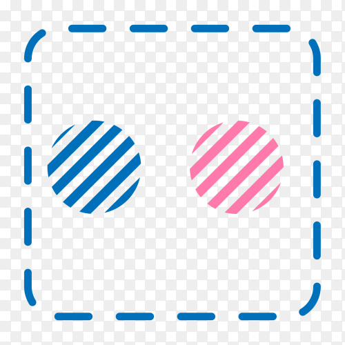 Flickr logo social network texture with transparent PNG