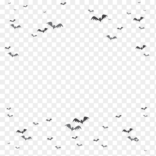 Flock bats on transparent background PNG
