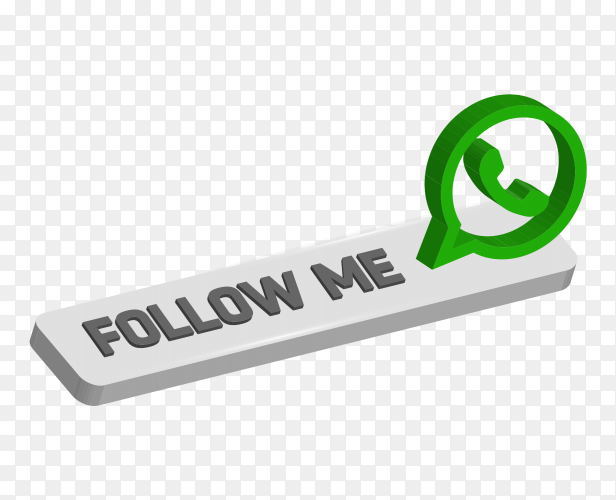 Follow me Instruction with whatsapp logo on transparent PNG