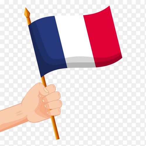 France flag waving vector PNG