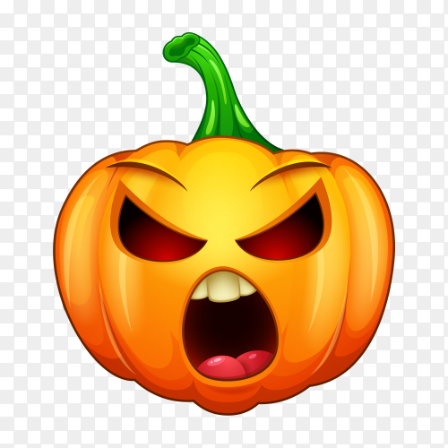 Funny and crazy Halloween cartoon emoticons vector PNG