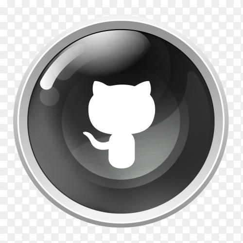 Github icon logo on transparent PNG