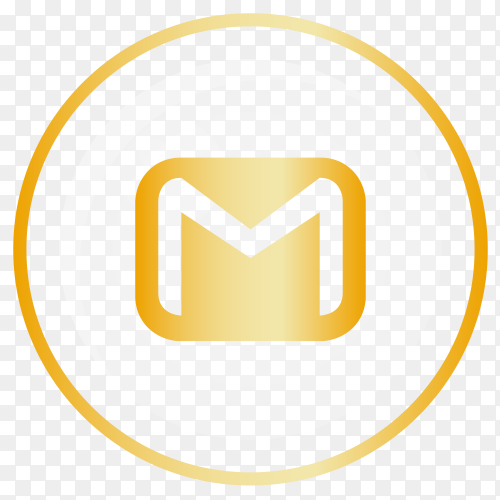 Gloden Gmail logo Clipart PNG