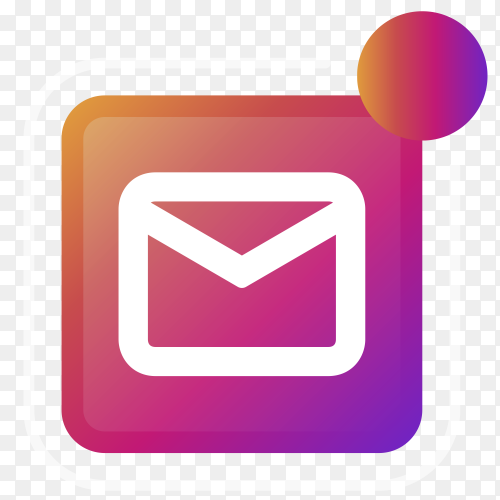 Gmail logo with notifications icon Clipart PNG