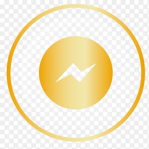 Golden logo Messenger vector PNG